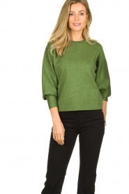Aaiko |  Glitter sweater Verona | green  | Picture 2