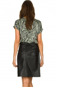 Aaiko |  Top with zebra print Merle | green  | Picture 5