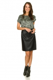 Aaiko |  Top with zebra print Merle | green  | Picture 3