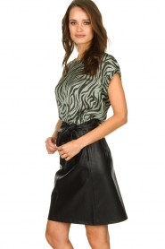 Aaiko |  Top with zebra print Merle | green  | Picture 4