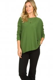 Aaiko |  Lightweight sweater Milan | green  | Picture 2
