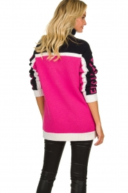 ELISABETTA FRANCHI |  Turtleneck sweater with logo print Eliza | pink  | Picture 5