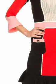 ELISABETTA FRANCHI |  Color block dress Main | multi  | Picture 7