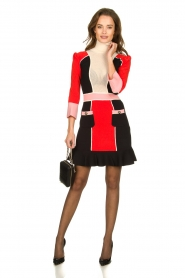 ELISABETTA FRANCHI |  Color block dress Main | multi  | Picture 8