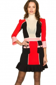 ELISABETTA FRANCHI |  Color block dress Main | multi  | Picture 4