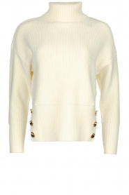 ELISABETTA FRANCHI | Knitted sweater Charlotte | natural  | Picture 1