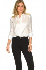 ELISABETTA FRANCHI | Silk blouse Meredith | white  | Picture 2