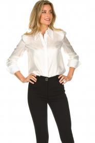 ELISABETTA FRANCHI | Silk blouse Meredith | white  | Picture 4
