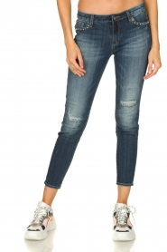 Fracomina | Studded jeans with ripped details Romy | blue   | Picture 2