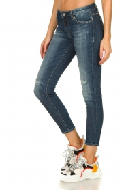 Fracomina | Studded jeans with ripped details Romy | blue   | Picture 4
