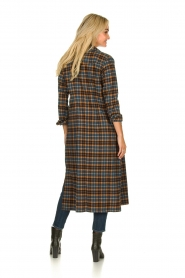 Fracomina |  Checkered dress with belt Donna | brown  | Picture 4