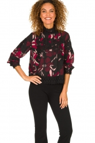 Fracomina |  Floral top with embroideries Chloe | multi  | Picture 2