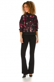 Fracomina |  Floral top with embroideries Chloe | multi  | Picture 3