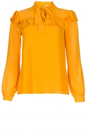 Fracomina |  Blouse with ruffles Winnie | yellow  | Picture 1