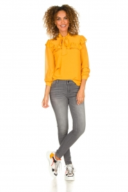 Fracomina |  Blouse with ruffles Winnie | yellow  | Picture 3