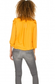 Fracomina |  Blouse with ruffles Winnie | yellow  | Picture 6