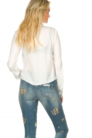 Fracomina | Blouse with lace Josien | white  | Picture 5
