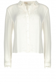 Fracomina | Blouse with lace Josien | white  | Picture 1