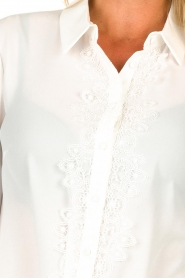Fracomina | Blouse with lace Josien | white  | Picture 6