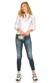 Fracomina | Kanten hals blouse  Mirelle | wit  | Afbeelding 3