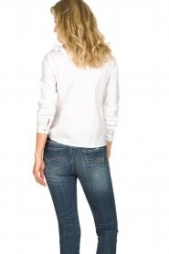Fracomina | Kanten hals blouse  Mirelle | wit  | Afbeelding 5