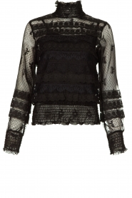 Fracomina |  Lace top Lucia | black  | Picture 1