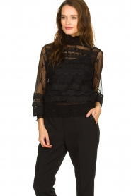 Fracomina |  Lace top Lucia | black  | Picture 4