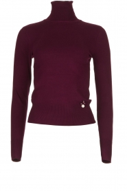 Fracomina | Turtle neck Pascal | burgundy  | Picture 1