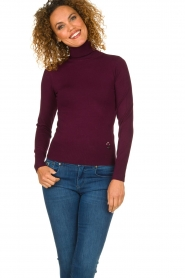 Fracomina | Turtle neck Pascal | burgundy  | Picture 2