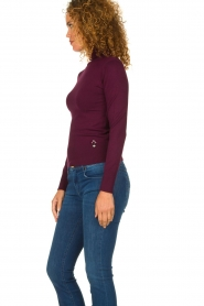 Fracomina | Turtle neck Pascal | burgundy  | Picture 3