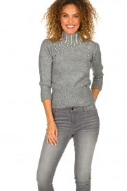 Fracomina |  Sweater Kirsty | grey  | Picture 4
