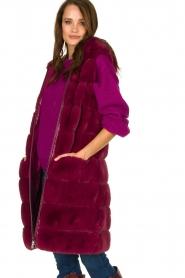 Fracomina | Faux fur waistcoat Miranda | burgundy  | Picture 4