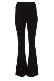 Fracomina | Flared pants Madeleine | black  | Picture 1