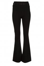 Fracomina | Flared broek Madeleine | zwart  | Afbeelding 1