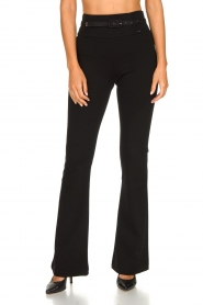Fracomina | Flared pants Madeleine | black  | Picture 6