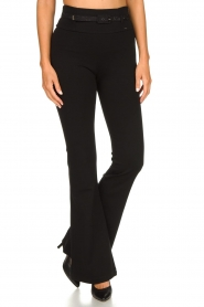 Fracomina | Flared pants Madeleine | black  | Picture 4