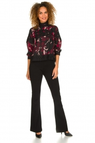 Fracomina | Flared pants Madeleine | black  | Picture 3