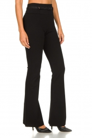 Fracomina | Flared pants Madeleine | black  | Picture 2