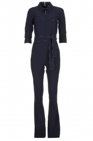 ELISABETTA FRANCHI | Jumpsuit with belt Isabella | blue  | Picture 1