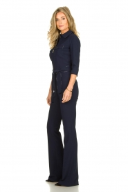 ELISABETTA FRANCHI | Jumpsuit with belt Isabella | blue  | Picture 4