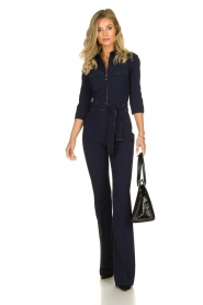 ELISABETTA FRANCHI | Jumpsuit with belt Isabella | blue  | Picture 3