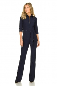 ELISABETTA FRANCHI | Jumpsuit with belt Isabella | blue  | Picture 2