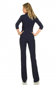 ELISABETTA FRANCHI | Jumpsuit with belt Isabella | blue  | Picture 5