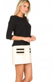 ELISABETTA FRANCHI |  Two-coloured dress Aissa | black  | Picture 4