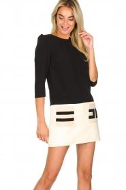 ELISABETTA FRANCHI |  Two-coloured dress Aissa | black  | Picture 2