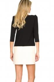 ELISABETTA FRANCHI |  Two-coloured dress Aissa | black  | Picture 5