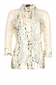 ELISABETTA FRANCHI |  Blouse with stars print Claire | natural   | Picture 1