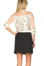ELISABETTA FRANCHI |  Blouse with stars print Claire | natural   | Picture 5