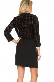 ELISABETTA FRANCHI |  Dress with velvet logo print Vaughn | black  | Picture 5