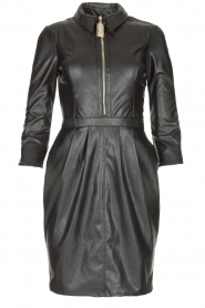 ELISABETTA FRANCHI |  Faux leather dress Tirza | black  | Picture 1